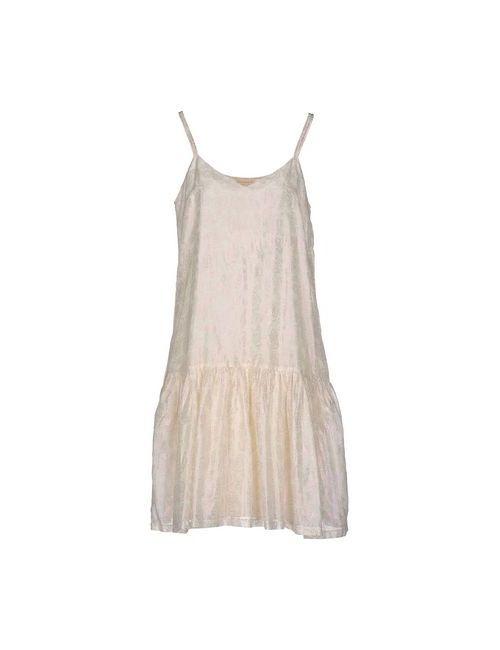 Momoní   Женское Слоновая Костящее Платье До Колена