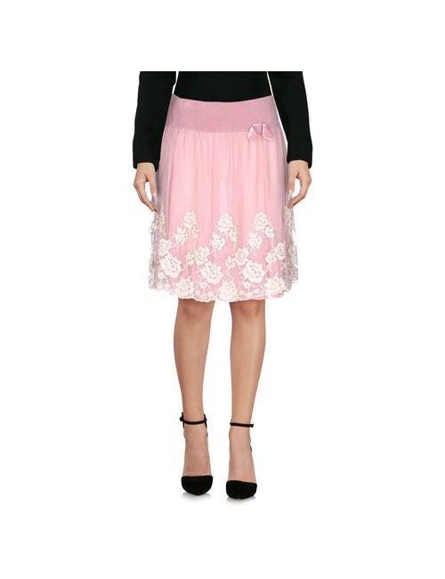 Blugirl Blumarine | Женская Розовая Юбка До Колена