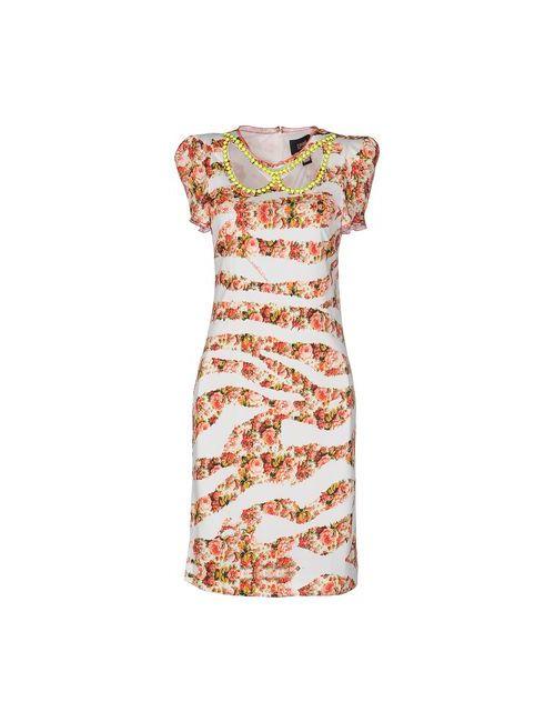 Class Roberto Cavalli | Женское Красное Платье До Колена