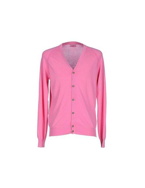 Gran Sasso | Мужской Розовый Кардиган