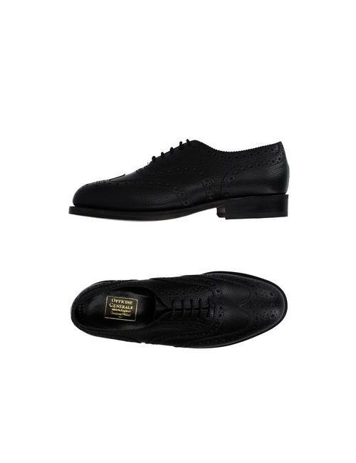 Officine Generale | Женская Чёрная Обувь На Шнурках
