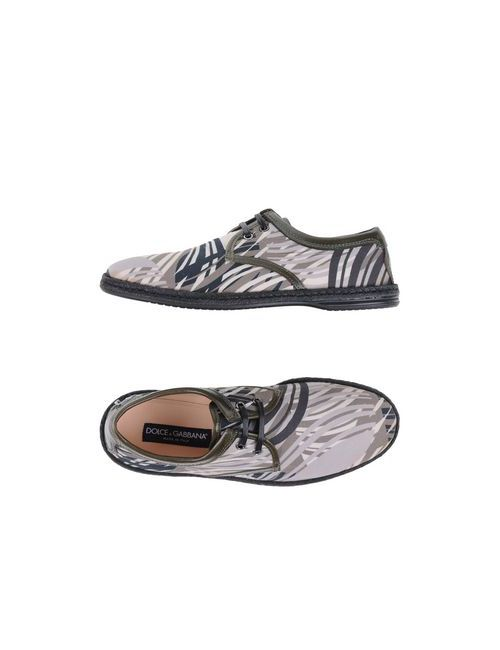 Dolce & Gabbana | Женская Бежевая Обувь На Шнурках