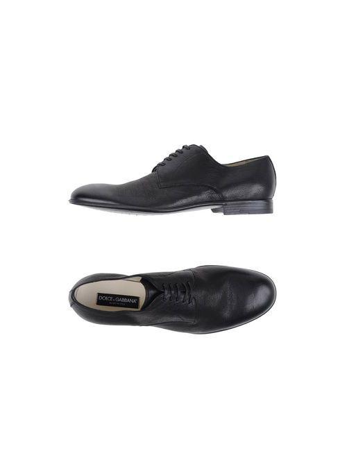 Dolce & Gabbana | Женская Чёрная Обувь На Шнурках