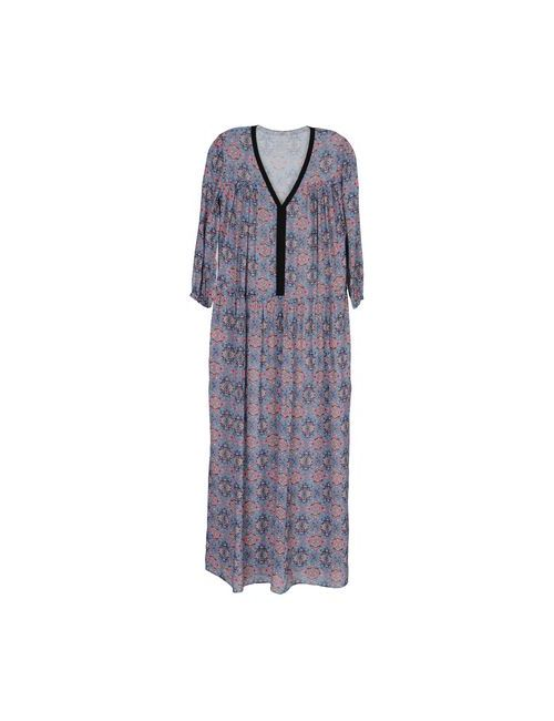 Pinko Grey | Женское Синее Длинное Платье