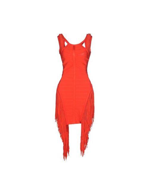 RÁRAVERVE | Женское Красное Короткое Платье