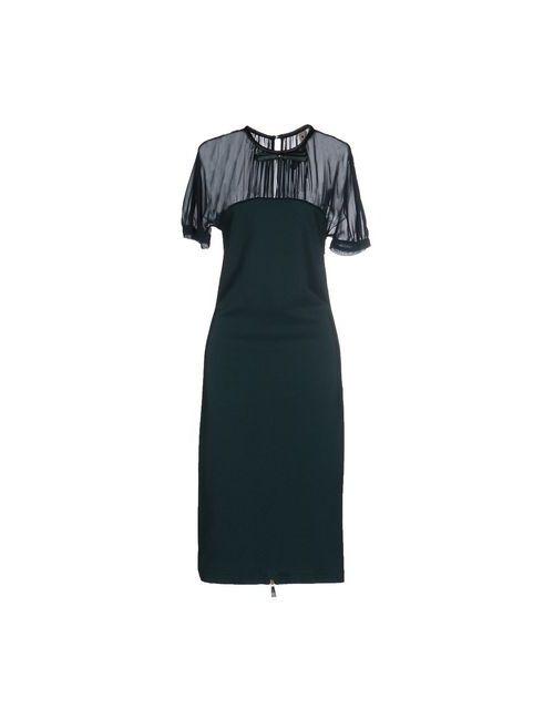 Le Coeur De Twin-Set Simona Barbieri | Женское Зелёное Платье До Колена