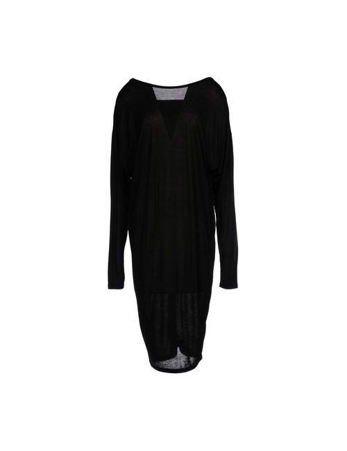 Isabel Benenato | Женское Чёрное Платье До Колена