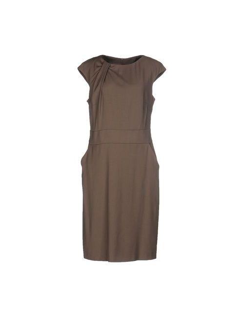 Peserico | Женское Хаки Платье До Колена
