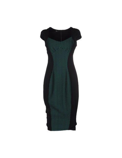 Hanita | Женское Зелёное Платье До Колена