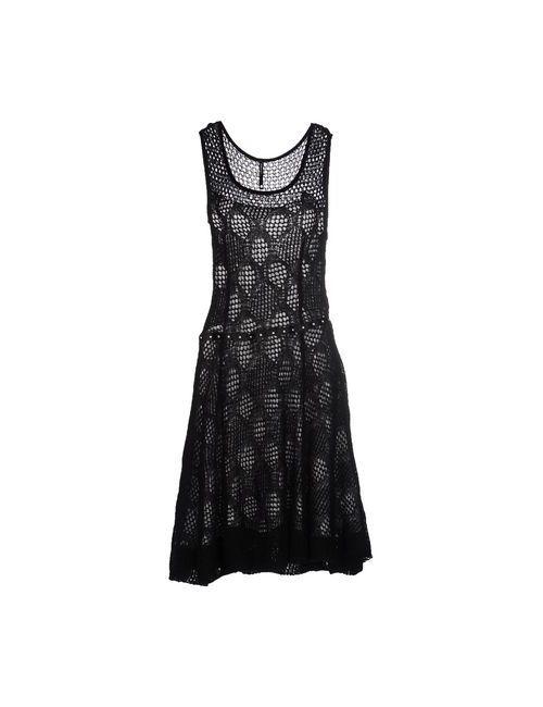 Pianurastudio | Женское Черный Платье До Колена