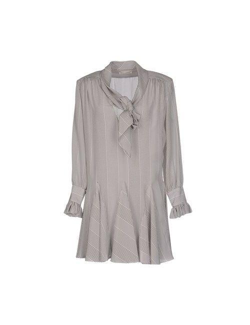 Saint Laurent | Женское Серое Короткое Платье