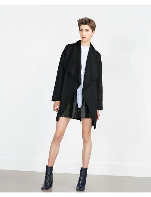 Zara | Женское Черный Пальто Ручной Работы