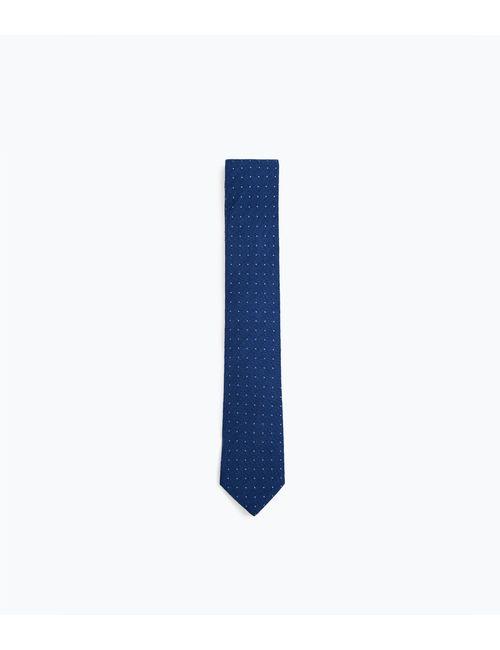 Zara | Мужской Синий Галстук Широкий В Горошек С Эффектом Денима