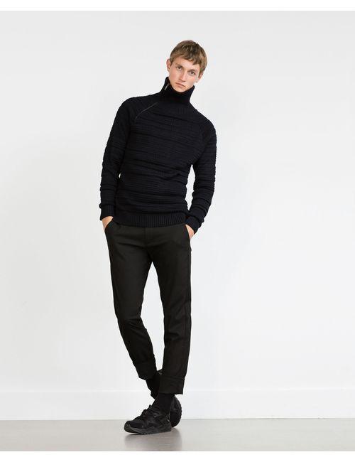 Zara | Мужской Чёрный Трикотаж