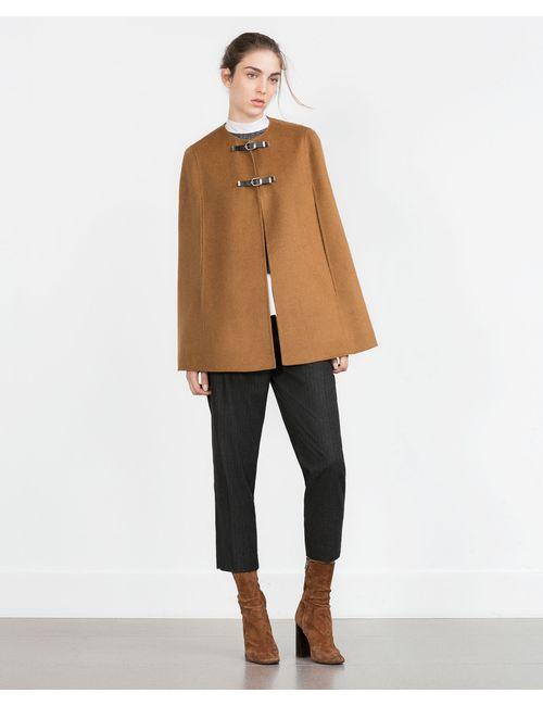 Zara | Женская Карамельная Накидка Hand Made