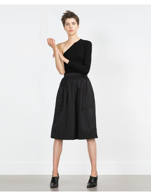 Zara | Женская Чёрная Юбка