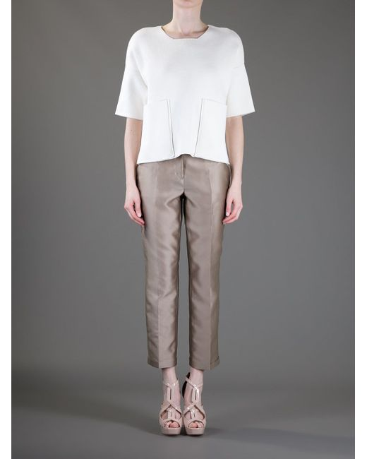 Cropped Tailored Trouser Dorothee Schumacher                                                                                                              серый цвет