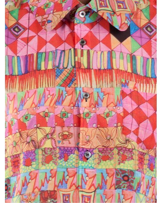 Блузка С Геометрическим Принтом Comme Des Garcons                                                                                                              многоцветный цвет