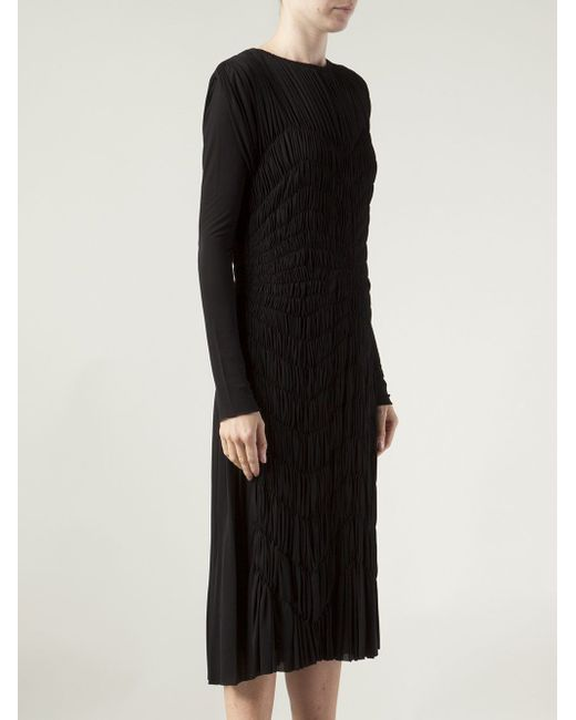 Платье С Узором Средней Длины Maison Rabih Kayrouz                                                                                                              чёрный цвет