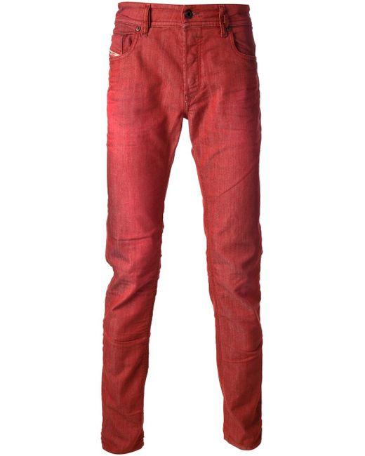 Джинсы Sleenker Diesel                                                                                                              красный цвет