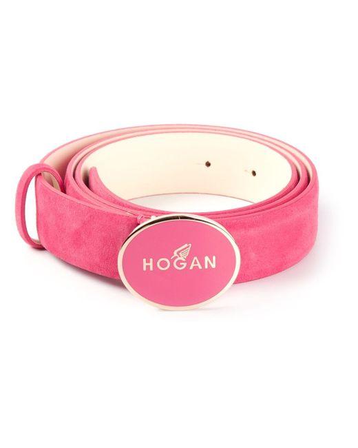 Ремень С Логотипом На Пряжке Hogan                                                                                                              розовый цвет