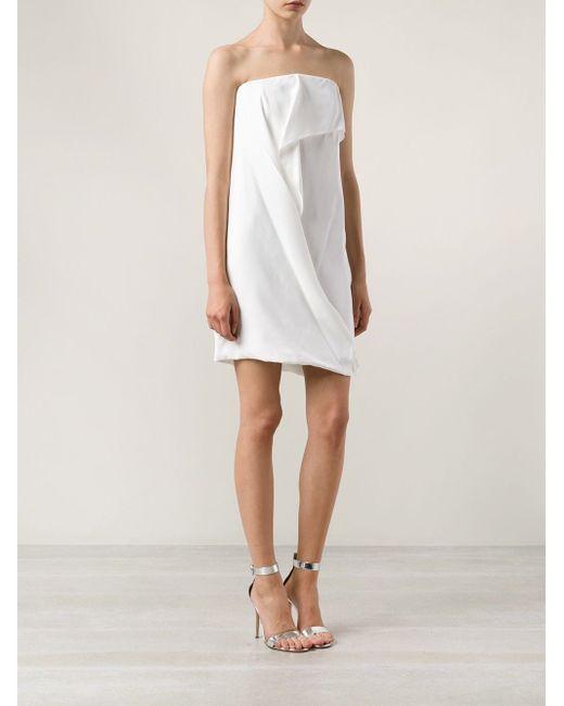 Креповое Платье-Бандо Maison Rabih Kayrouz                                                                                                              белый цвет
