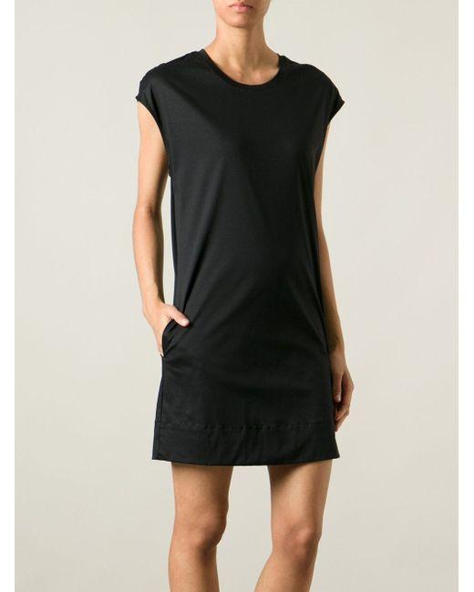 Трикотажное Платье-Футболка Helmut Lang                                                                                                              чёрный цвет