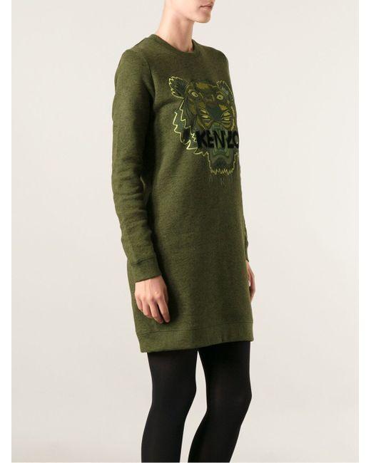 Платье-Свитер Tiger Kenzo                                                                                                              зелёный цвет