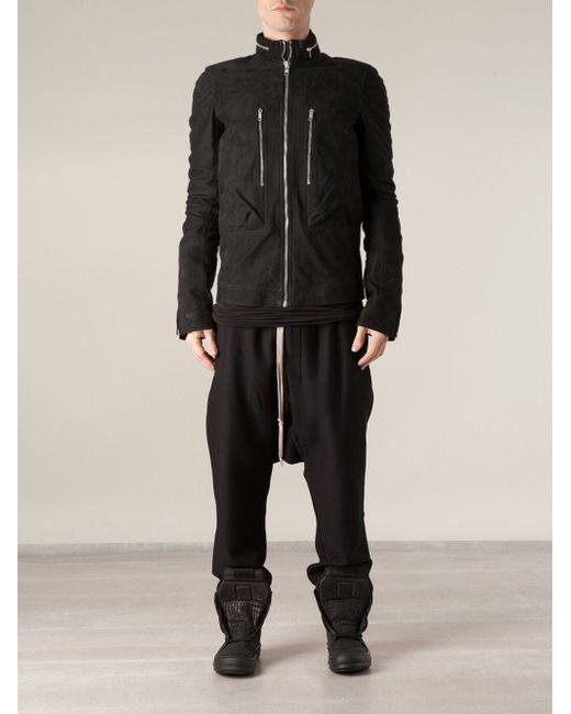 Куртка На Молнии Rick Owens                                                                                                              чёрный цвет
