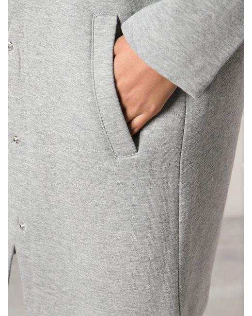 Пальто Без Воротника T By Alexander Wang                                                                                                              серый цвет