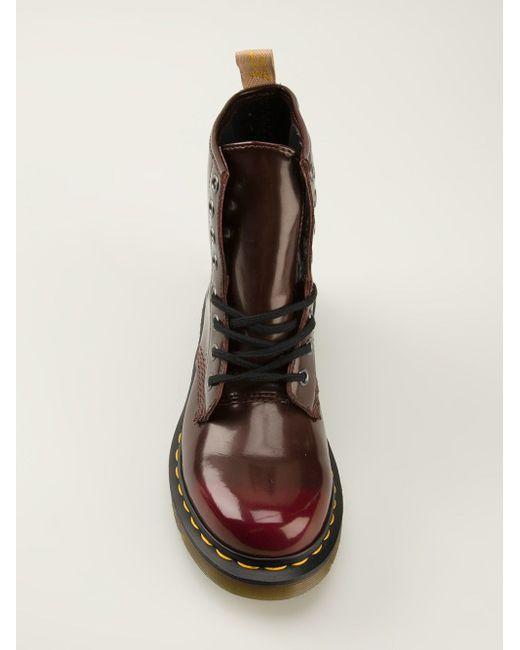 Ботинки На Шнуровке Dr. Martens                                                                                                              красный цвет