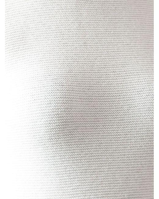 Вязаная Майка Giorgio Armani                                                                                                              белый цвет