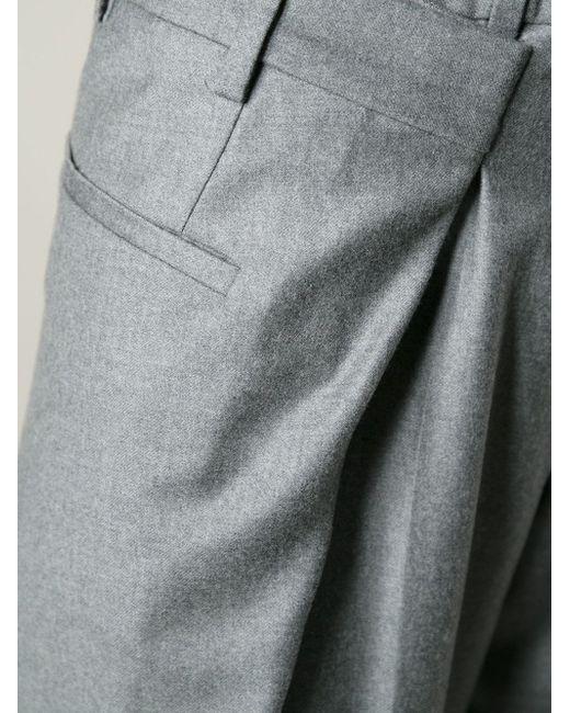 Широкие Брюки Со Складками Maison Margiela                                                                                                              серый цвет