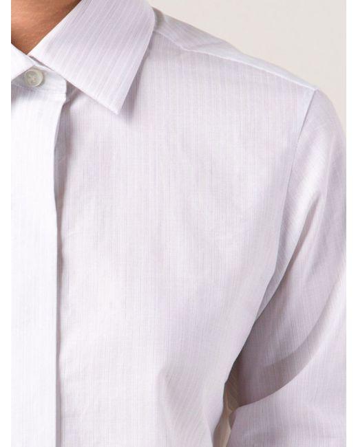 Рубашка В Полоску Maison Margiela                                                                                                              белый цвет