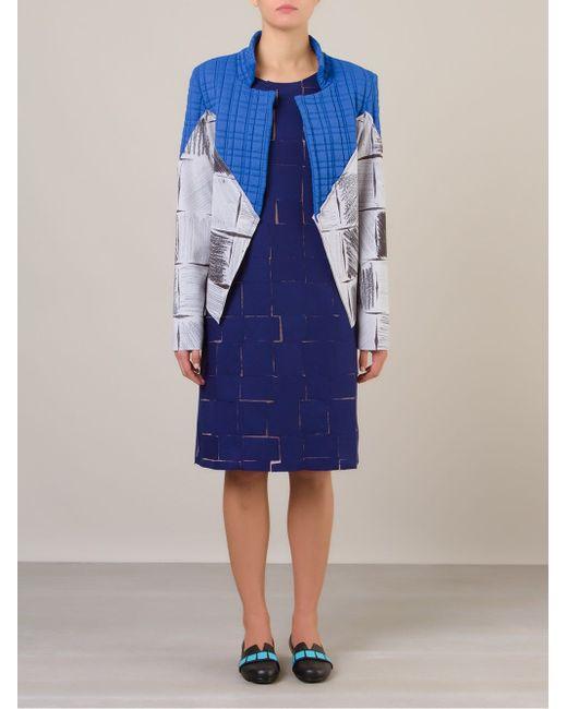 Пиджак Без Застежки С Контрастными Панелями FERNANDA YAMAMOTO                                                                                                              синий цвет