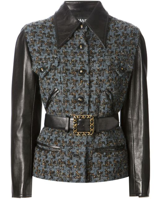 Куртка-Букле Chanel Vintage                                                                                                              синий цвет