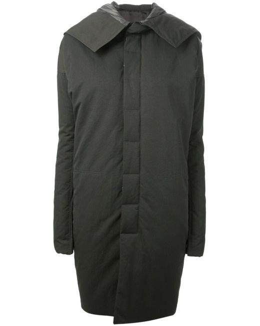 Пальто С Капюшоном Rick Owens                                                                                                              зелёный цвет