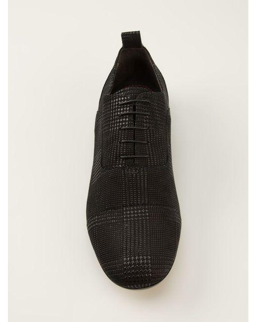 Дерби С Узором В Клетку Pollini                                                                                                              чёрный цвет