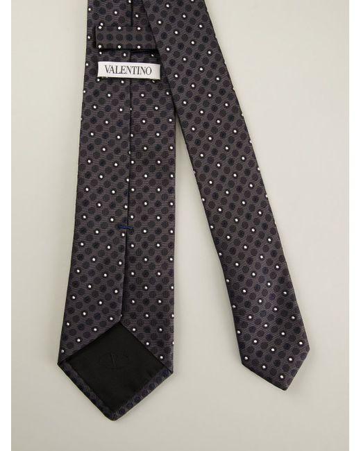 Галстук С Вышивкой В Горошек Valentino                                                                                                              серый цвет