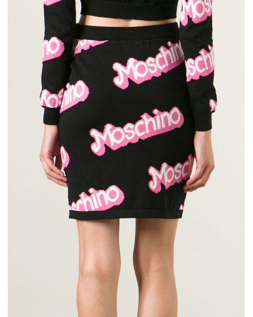 Юбка С Простроченным Логотипом Moschino                                                                                                              розовый цвет