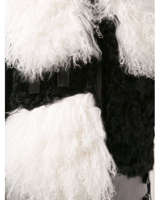 Жилет С Контрастными Панелями Sacai                                                                                                              чёрный цвет