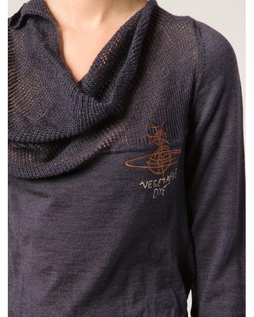 Свитер Veggy Jumper Vivienne Westwood                                                                                                              серый цвет
