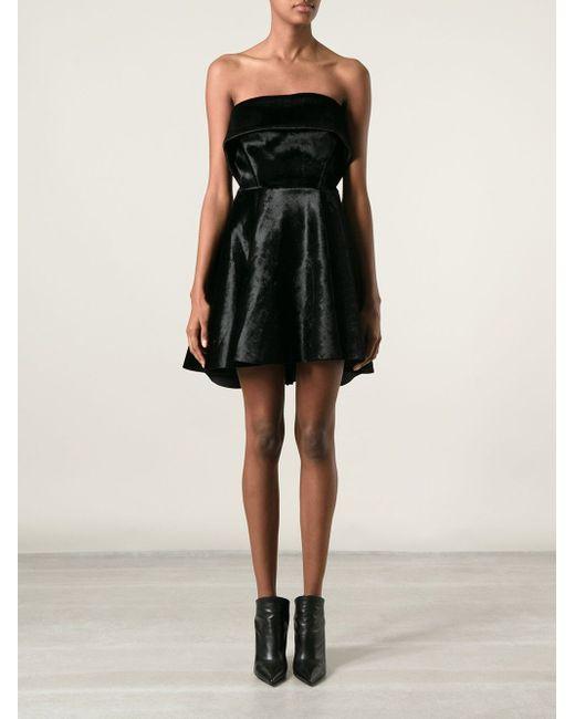 Платье-Футляр С Кожаными Деталями David Koma                                                                                                              чёрный цвет