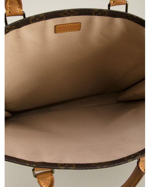 Сумка-Шоппер С Монограммным Принтом LOUIS VUITTON VINTAGE                                                                                                              коричневый цвет