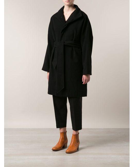 Пальто С Поясом ARTS & SCIENCE                                                                                                              чёрный цвет