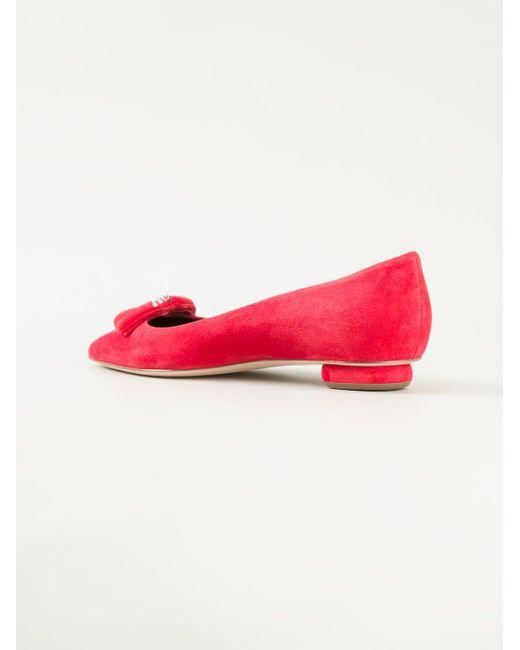 Балетки С Декоративными Губами Rupert Sanderson                                                                                                              красный цвет