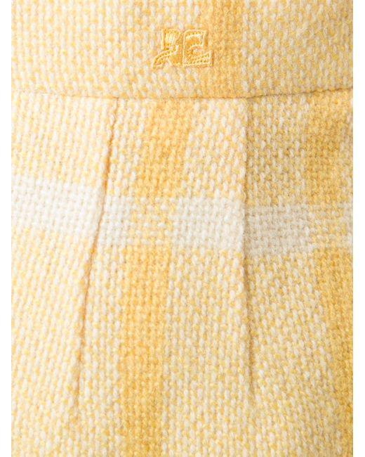 Пиджак С Юбкой В Клетку COURREGES VINTAGE                                                                                                              желтый цвет