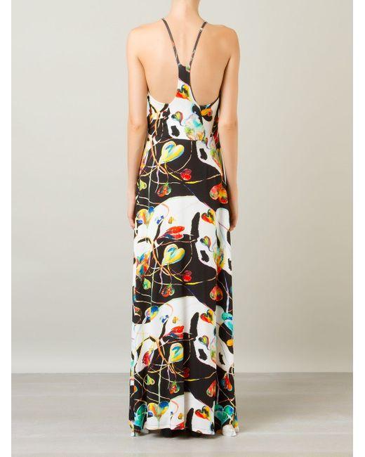 Printed Long Dress AMIR SLAMA                                                                                                              чёрный цвет