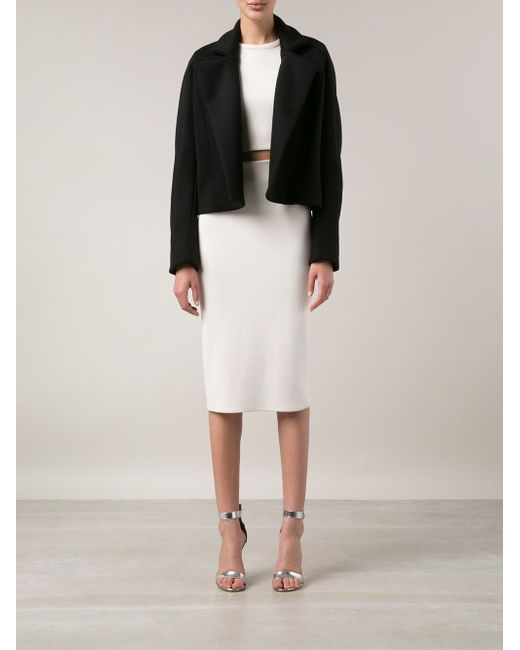 Укороченный Пиджак Maison Rabih Kayrouz                                                                                                              чёрный цвет
