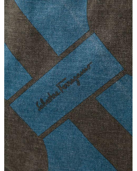 Сумка-Тоут Mustique Salvatore Ferragamo                                                                                                              коричневый цвет